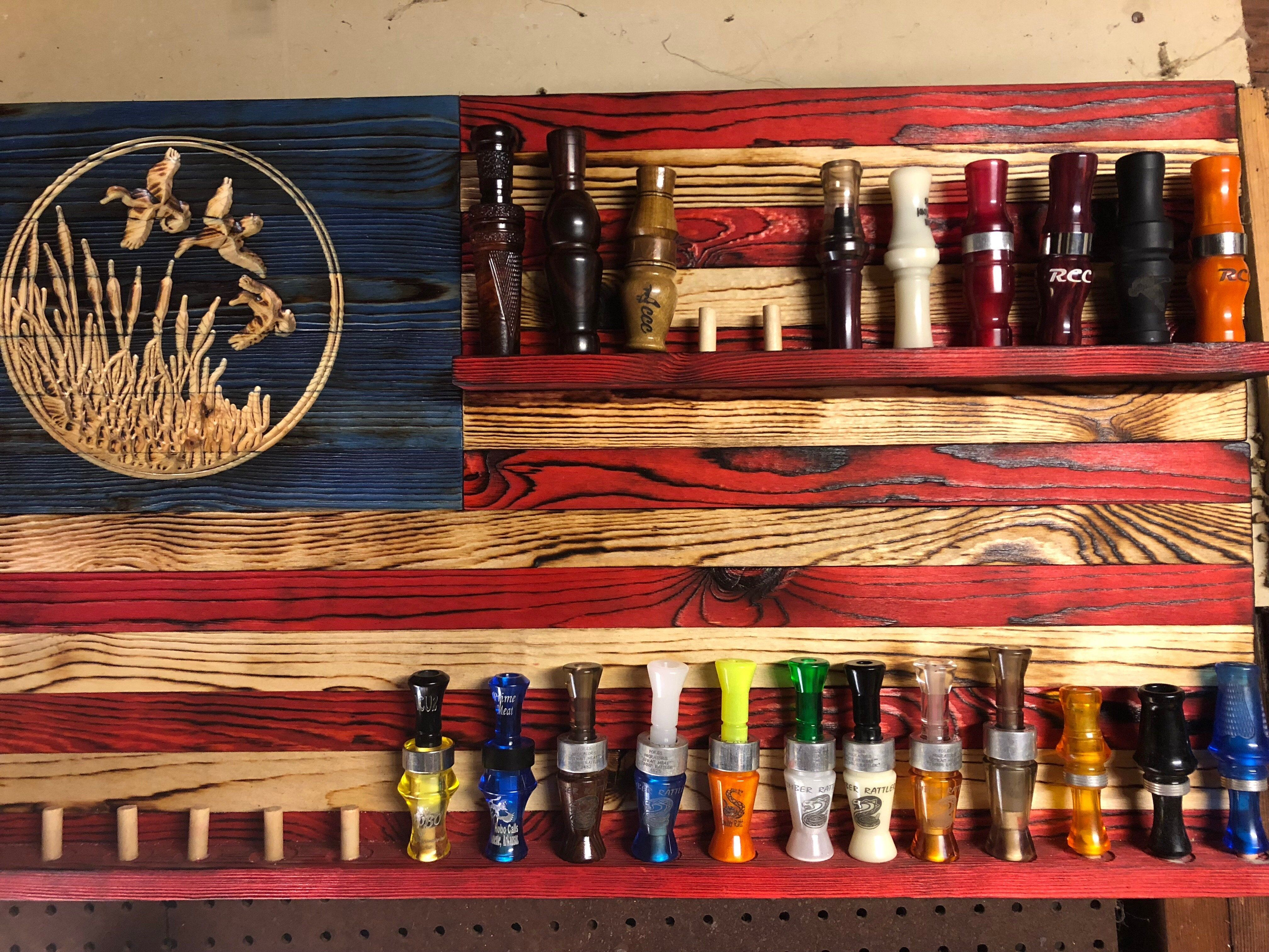 Duck call edition charred natural grain wooden
