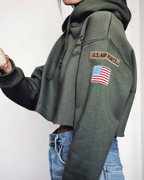 top green top tumblr cropped hoodie hoodie crop tops denim jeans blue jeans  olive green army green 90s style b7300ba866