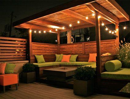 ROOFTOP GARDENS by Wicker Park Evening Garden   So beautiful this design idea