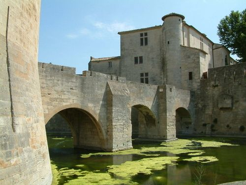 Aigues-Mortes, medieval city in the Camargue region in the south of France.