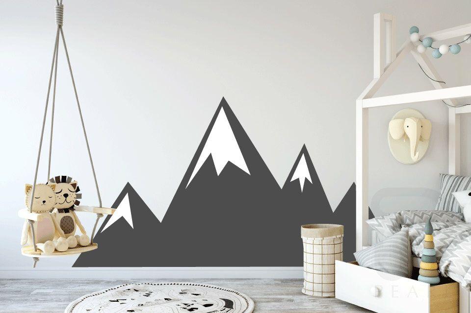 Mountains Wall Decal Mountain Range Sticker Kids Decal