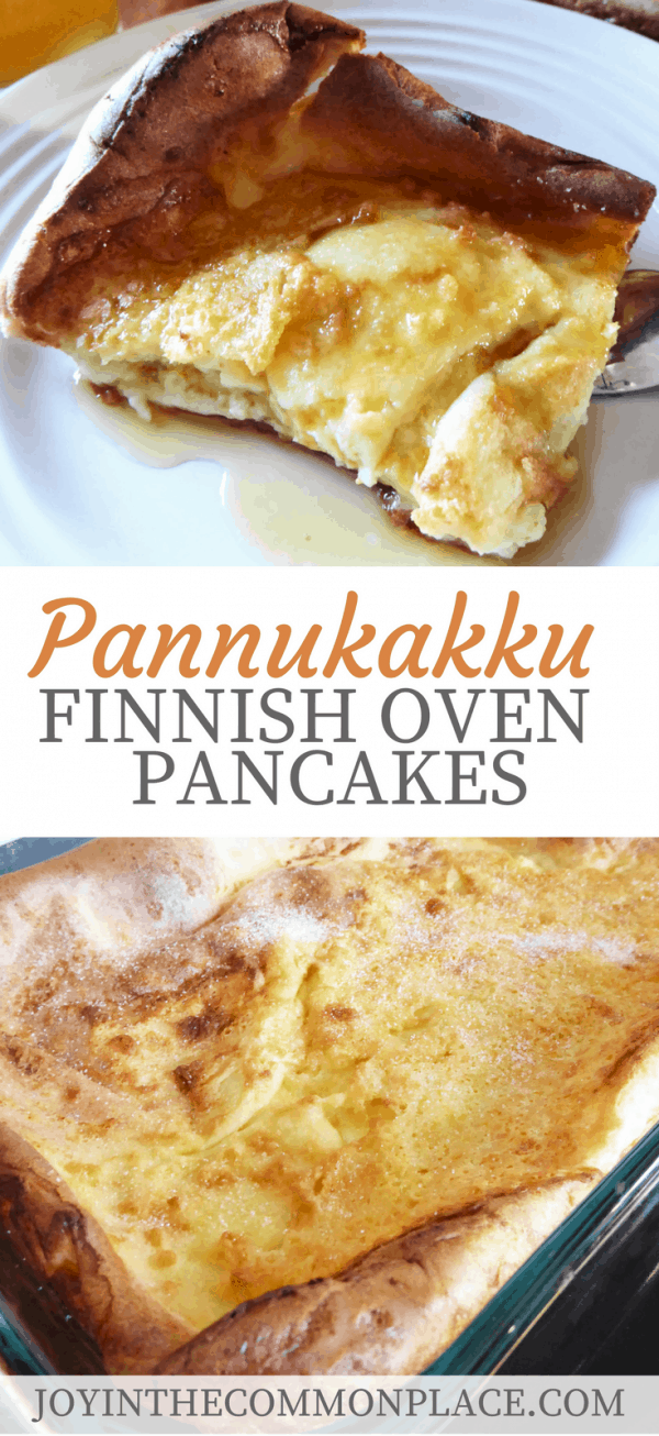 Finnish Oven Pancakes- These oven pancakes are easy to make and delicious! They are the perfect breakfast to serve to guests over the holidays. All you need to do is bake them in the oven for 40 minutes and you have a delicious breakfast food! #recipe #pancakes #finnish #ovenpancakes #breakfast #brunch #breakfastideas #party #holidays #entertaining #cooking #bakery #baking