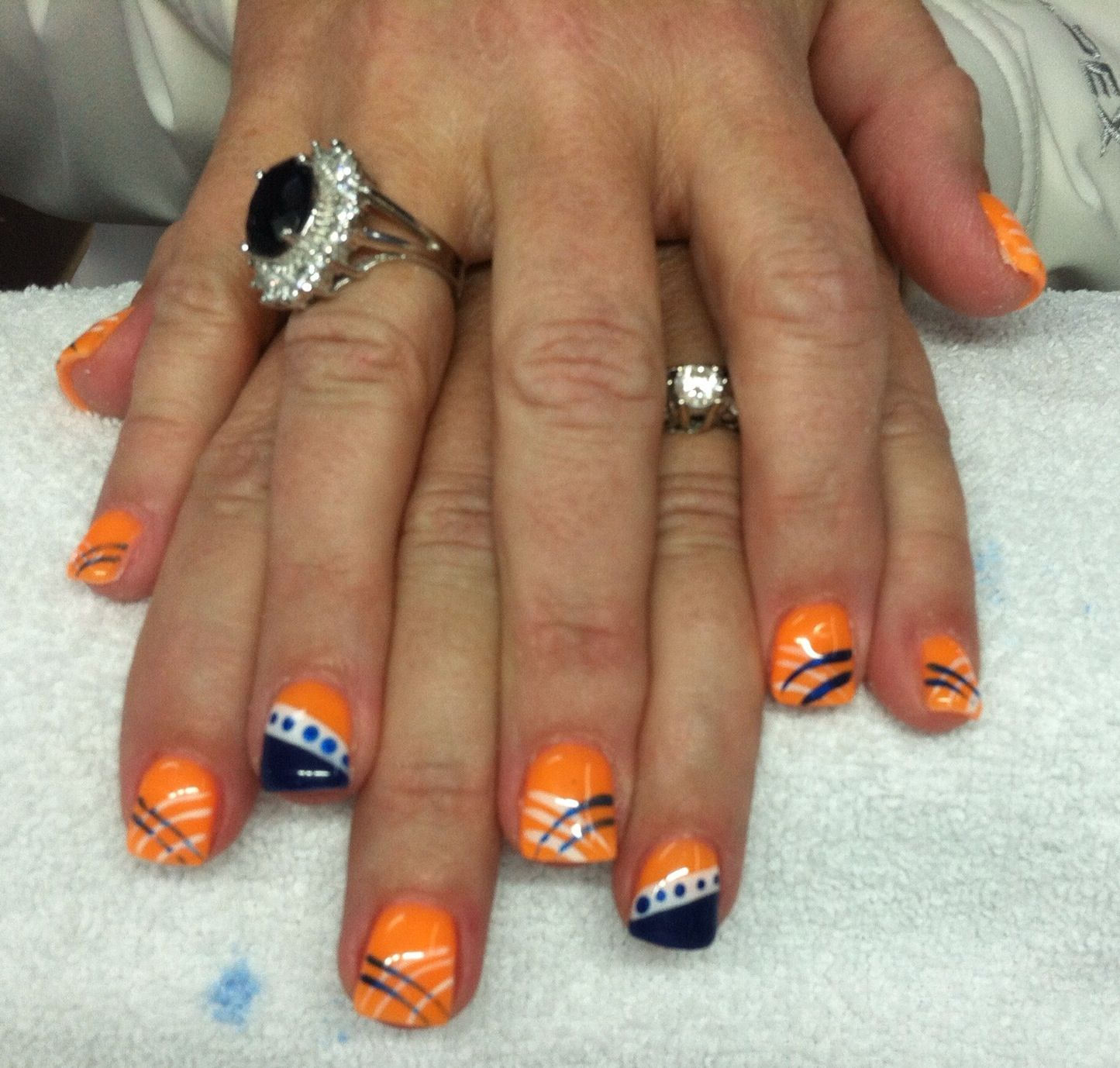 Denver Bronco nails! | Nails! | Pinterest | Denver broncos nails ...