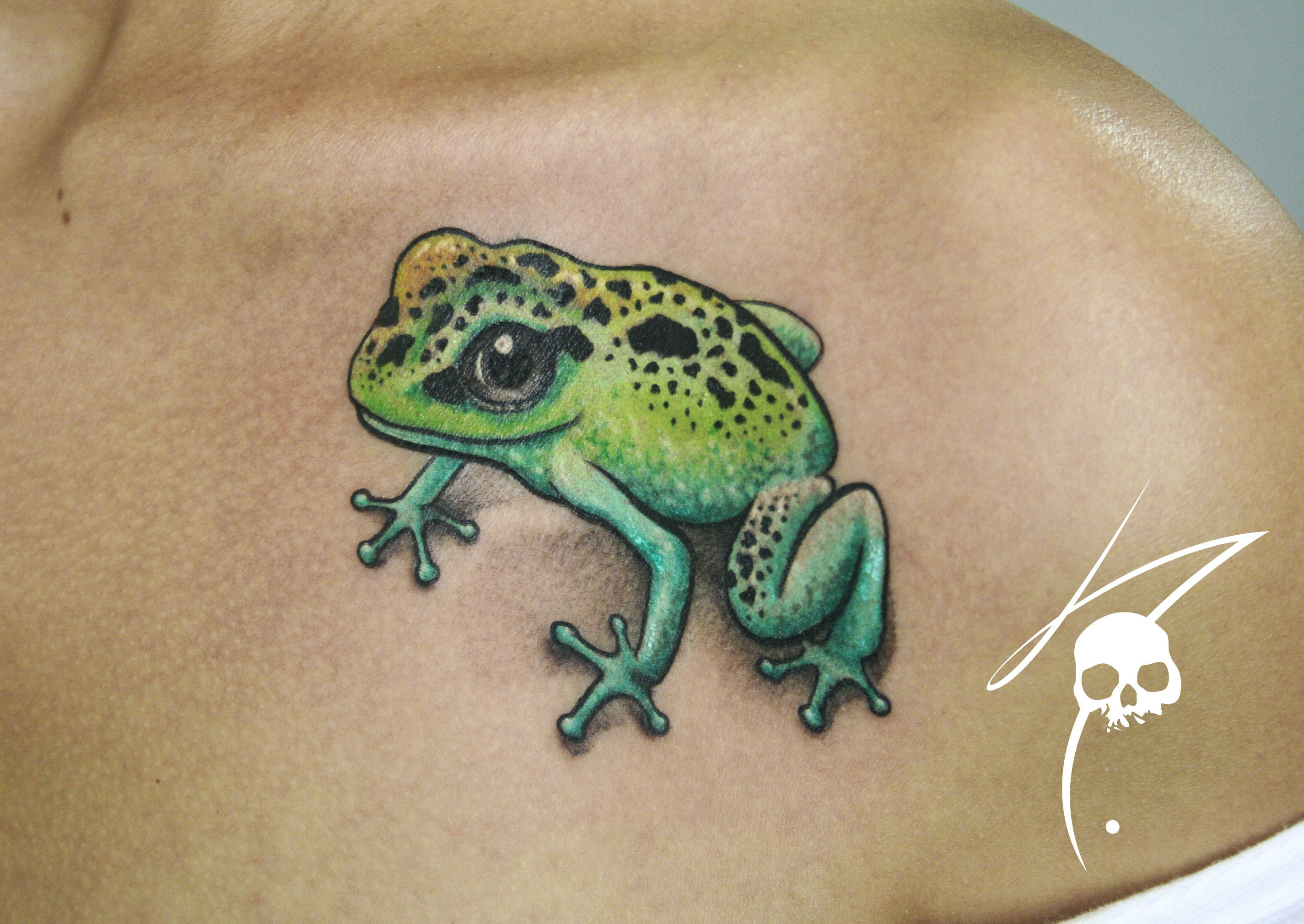 Frog Tattoo Ideas: Frog Color Tattoo