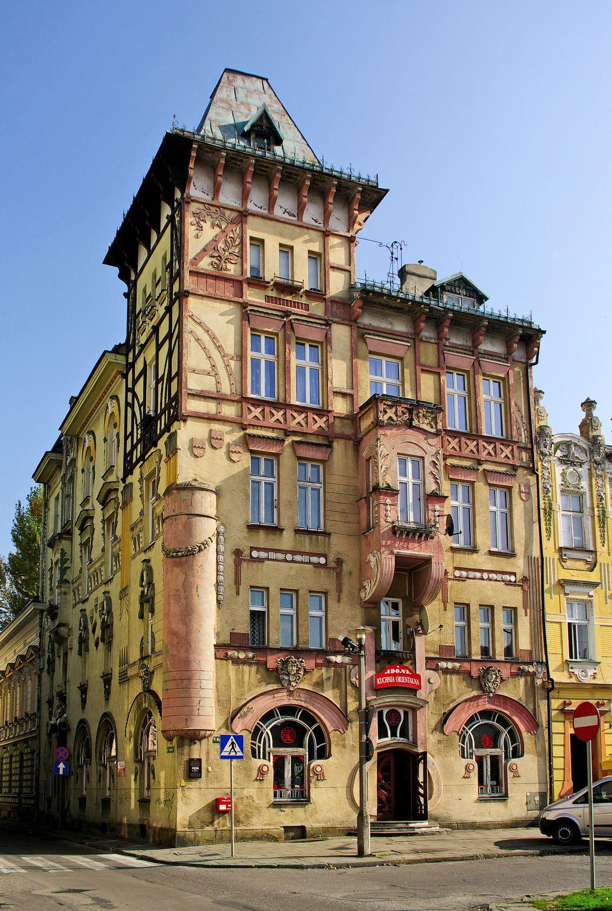 Secesyjna Kamienica Pod Zabami W Bielsku Bialej Poland Cities Poland Poland Travel