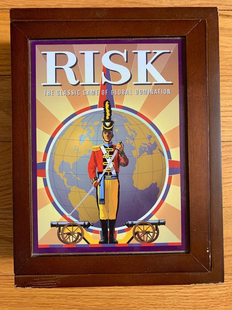 Hasbro Parker Brothers Risk Board Game In Vintage Wood Book Edition Wooden Box Hasbro Vintageretro Wood Book Board Games Vintage Wood