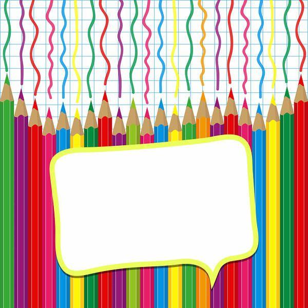 School Pencils Wallpaper | Paper frames, Borders for paper ...