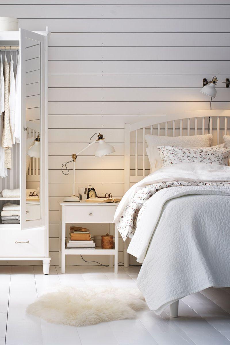 Tyssedal Bettgestell Weiss Ikea Deutschland Bettgestell Schlafzimmermobel Und Dunkle Wohnzimmer