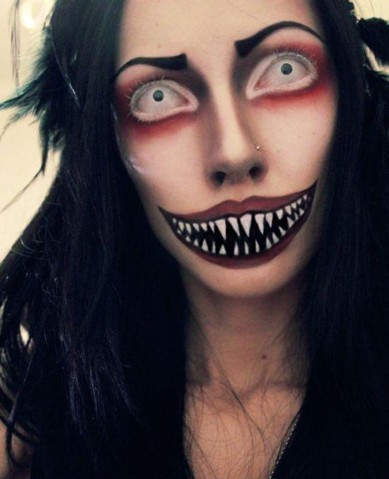 Страшный грим на Хэллоуин фото   Хэллоуин, Предметы ...