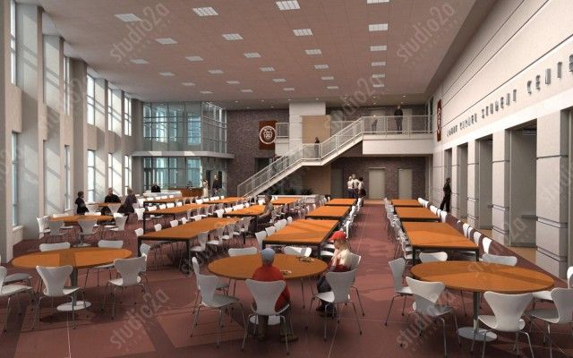 3d Interior Architectural Renderings Illustrating Mt Carmel High School S Plans To Expand And