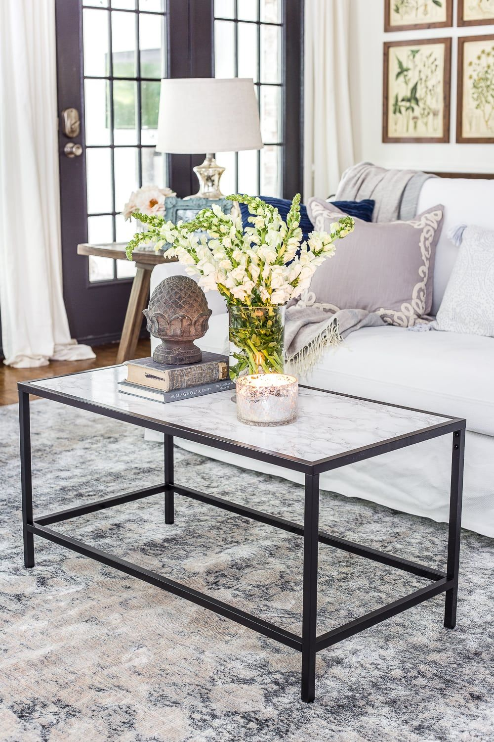 Faux Marble Top Coffee Table Marble Top Coffee Table Marble Tables Living Room Ikea Coffee Table [ 1500 x 1000 Pixel ]