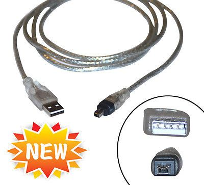 Usb 2 0 To Ieee 1394 4 Pin Firewire Ilink Adapter Cable 3 Ft Print Converter C13 Usb Ebay Converter