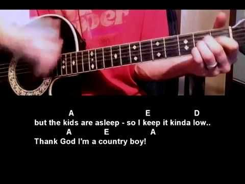 How to play Thank God I\'m A Country Boy by John Denver Guitar Lesson ...