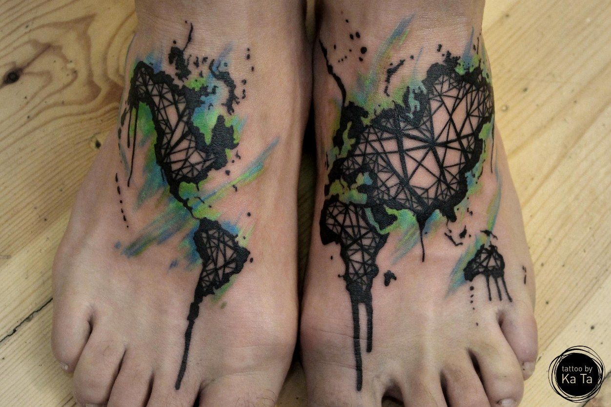 Abstract geometric foot tattoo on tattoochief foot tattoos abstract geometric foot tattoo on tattoochief gumiabroncs Images