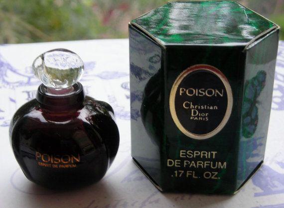 vintage Christian Dior Poison esprit de parfum mini bottle