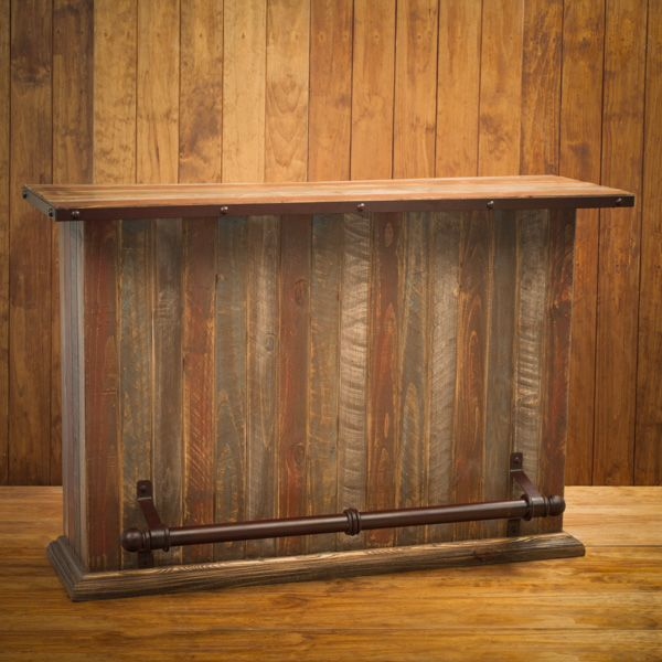 The Rustic Wood Finish On Our 5 Portable Rustic Bar