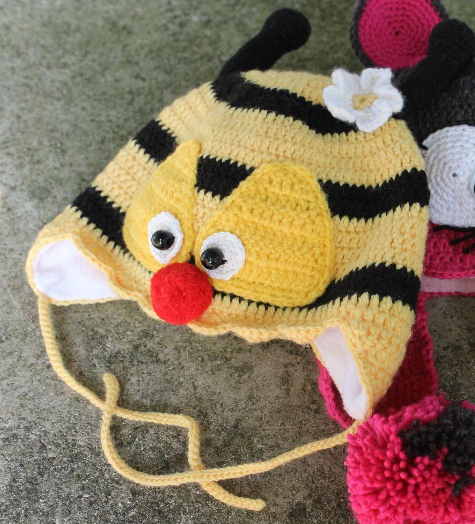 Babymütze Kleine Biene | häkeln | Pinterest | Baby hat crochet, Hat ...