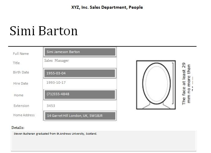 Employee Profile Template Word  Company Templates