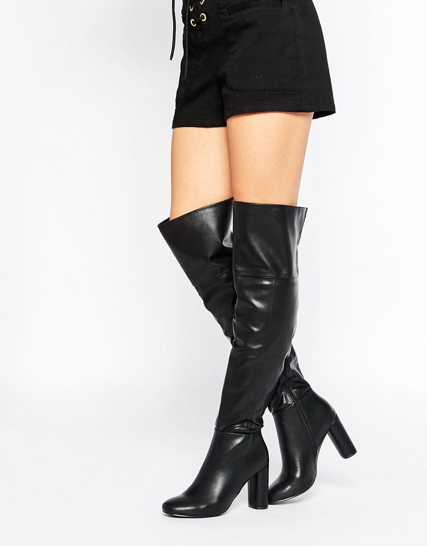 f61dcb45074 Truffle Collection Luan Square Toe Over The Knee Boots
