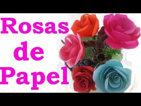 C mo hacer rosas de papel faciles y bonitas paso a paso - Youtube manualidades de papel ...