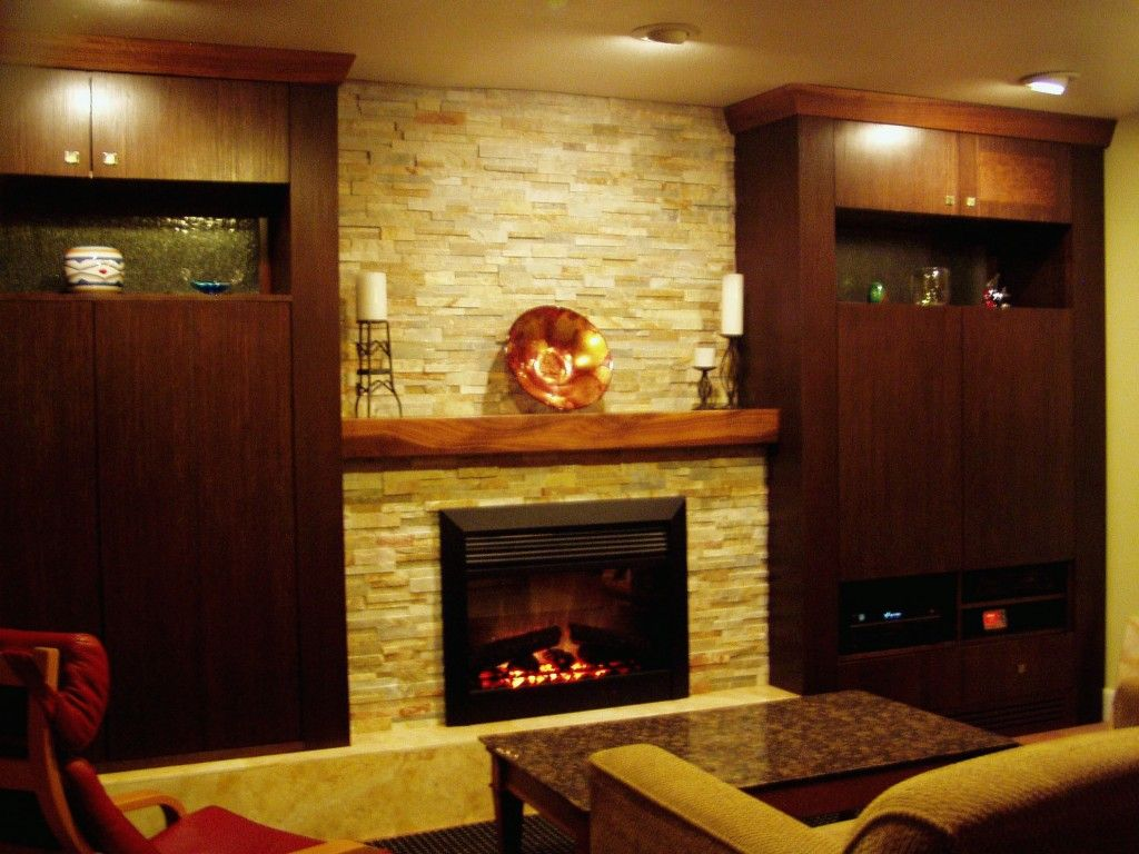 Apartment decor with fireplace ideas