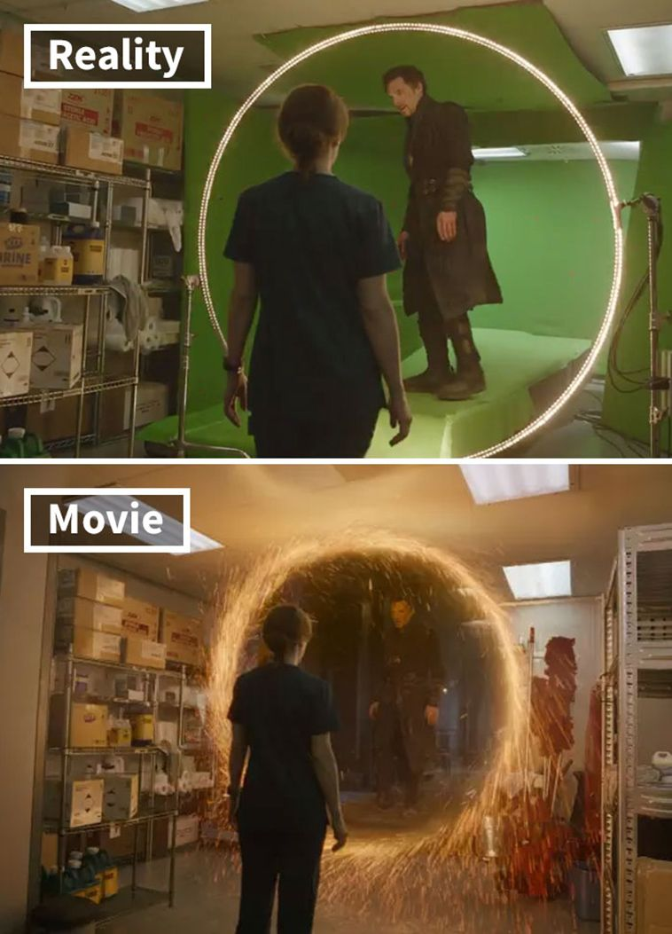 20 Movie Scenes Before-And-After Special Effects   Movie ...
