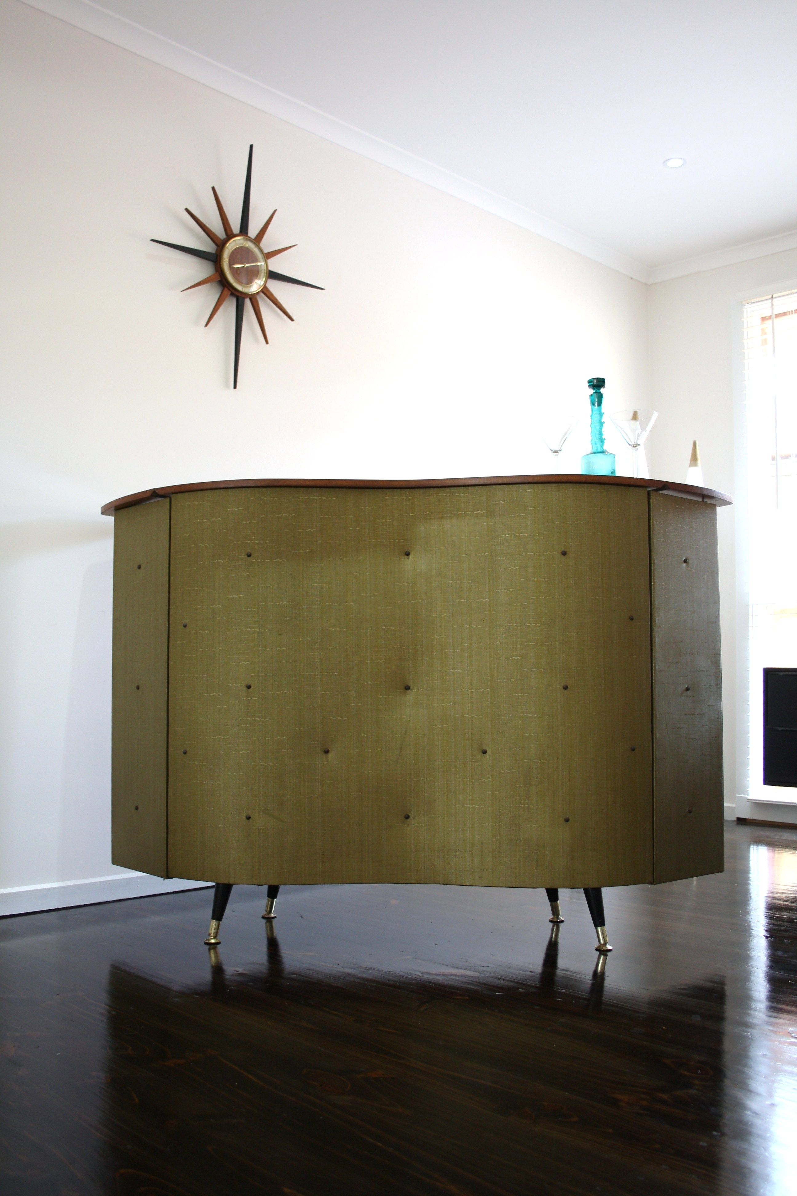Mid Century 1950s Bar Cocktail Cabinet Retro Vintage | 360 ...