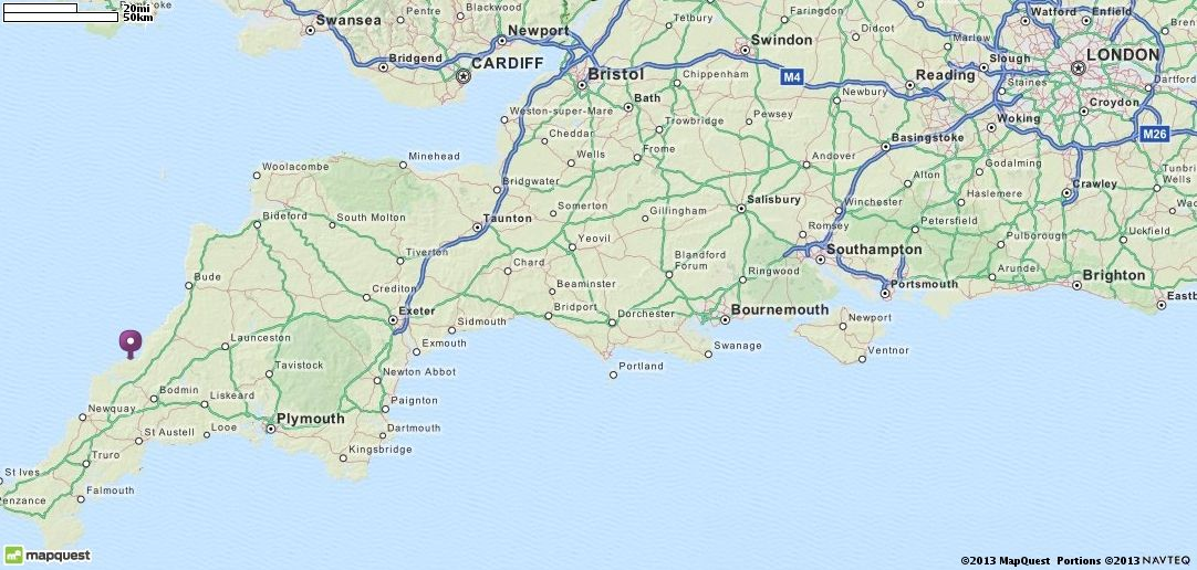 Map Of Port Isaac United Kingdom Mapquest Travel Destinations
