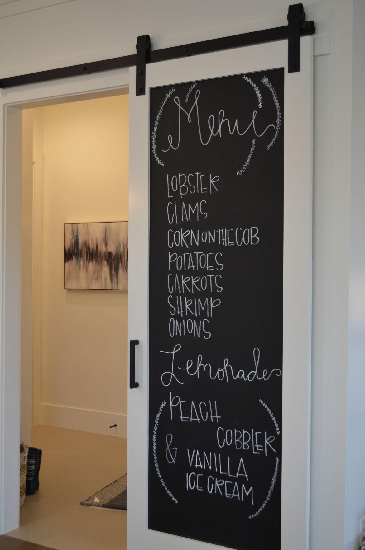 Chalkboard Barn Doors Heraldextra Com In 2020 Doors