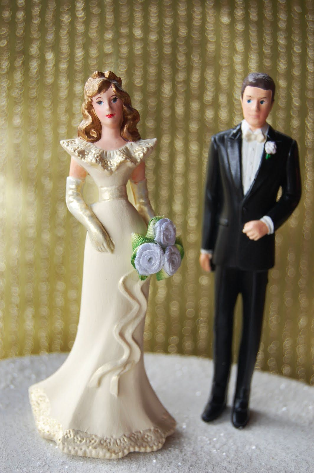 VINTAGE CAKE TOPPERS       Fab Miss B  A Custom Job  Before   After     Fab Miss B  A Custom Job  Before   After Vintage Wedding Cake Topper