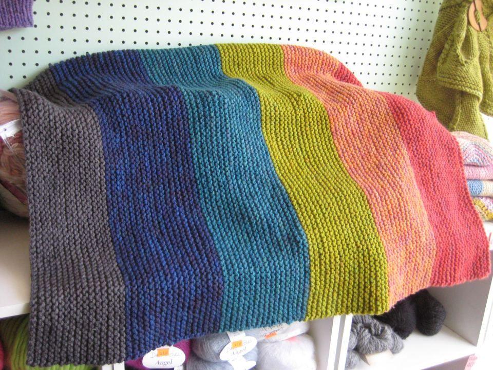 Super Easy Knit Baby Blanket Finished Super Easy