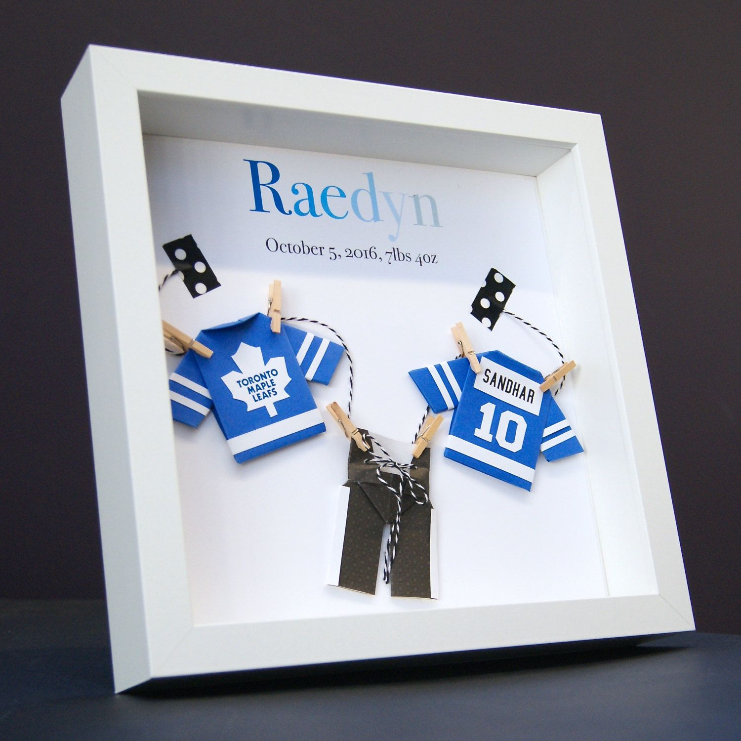 Personalized Name Paper Origami Hockey NHL Toronto Maple Leafs ...