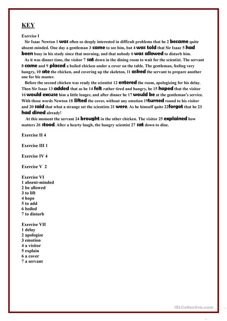 Working With The Text Sir Isaac Newton Worksheet Free Esl Printable Worksheets Made By Teachers Isaac Newton Texts Comprehension Exercises