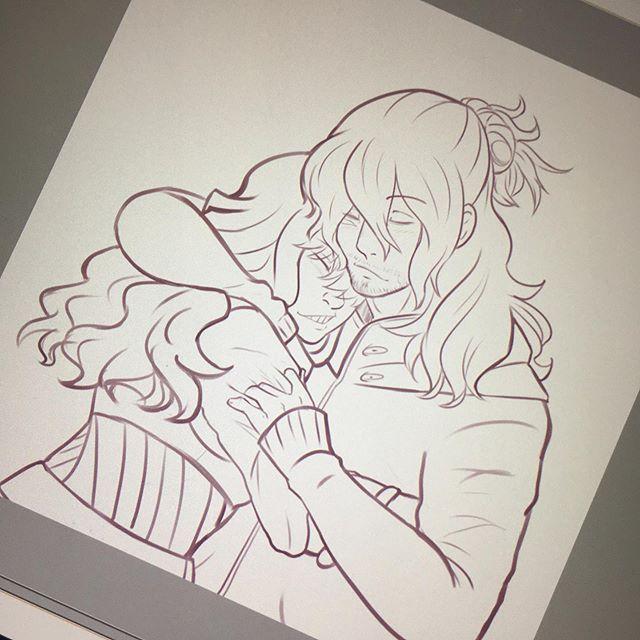 Soft Aizawa is my thing Im not even sorry.  #wip #lilithfriggason #asnakepitfilledofliesanddeception #aizawashouta #drawing #digitalart #anime #myheroacademia #bokonoheroacademia #animeart #digitalart #shoutaaizawa #shotaaizawa #mha #bnha