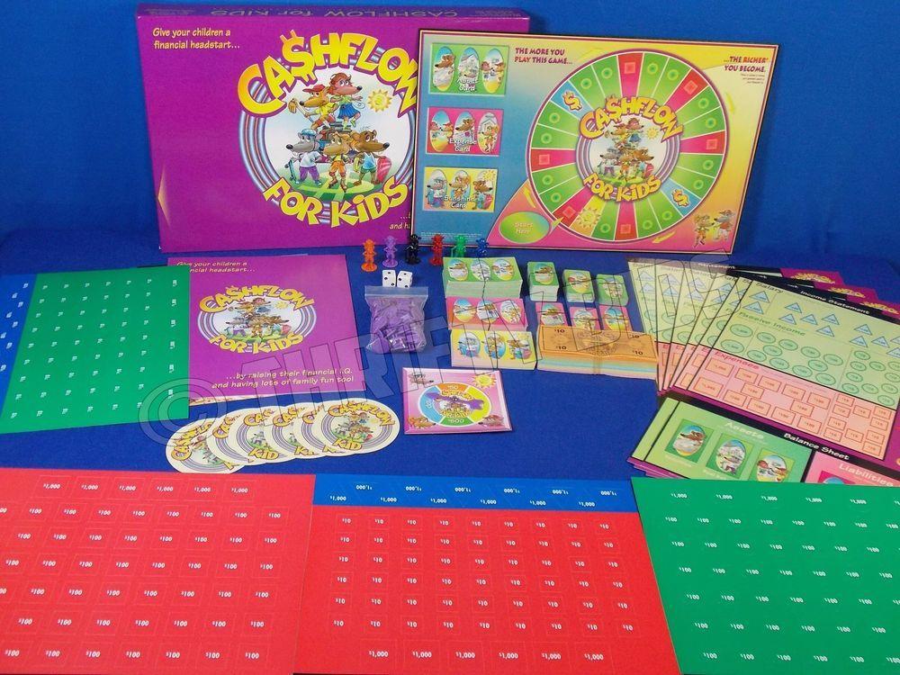 Rich Dad Poor Dad Cashflow Kids Board Game No Book / Tape
