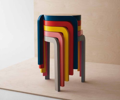 Pin By Gemma Cutler On Small Space Great Place Colorful Stools Stackable Stools Colorful Furniture