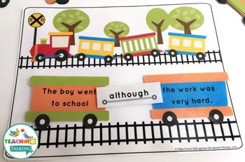 Conjunctions Activity with a Railroad Car Theme