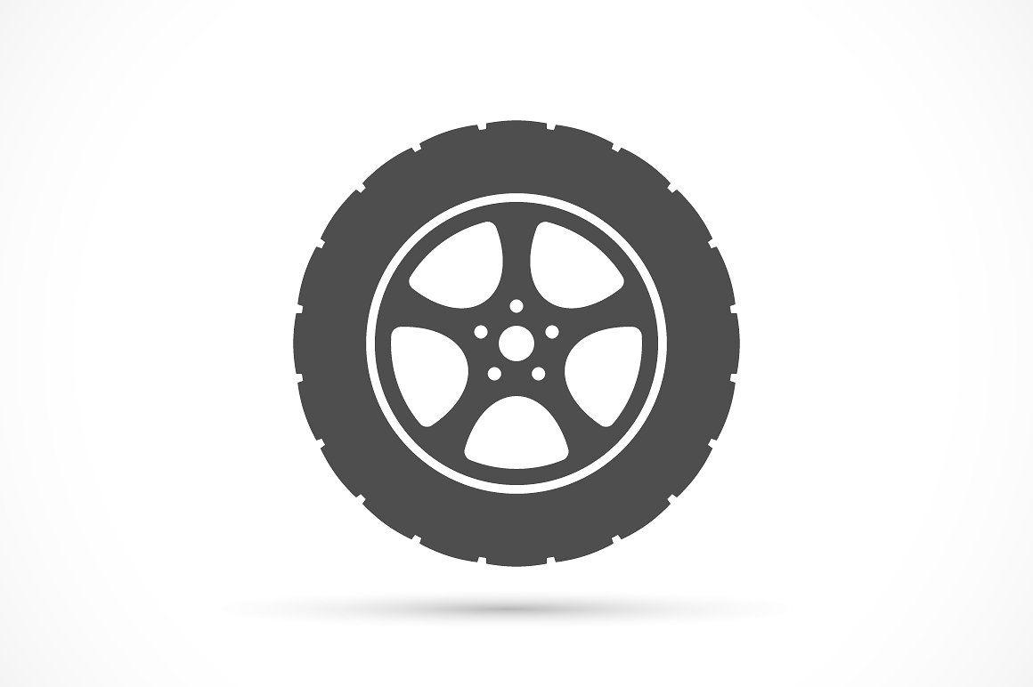 Car Wheel Icon Car Wheel Car Wheels Diy Car