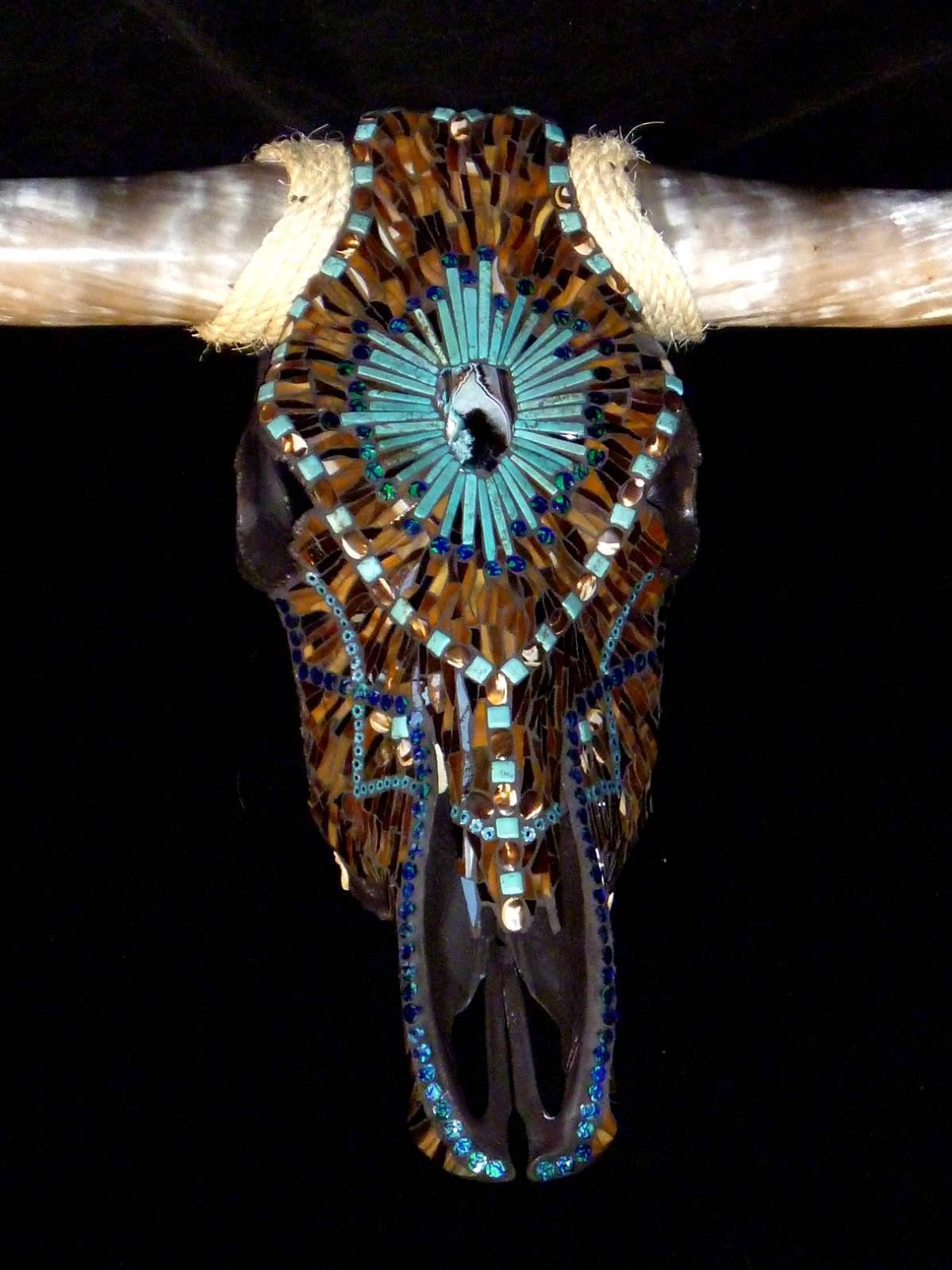 Cassie Edmonds Mosaics Skulls Deer Skull Art Skull