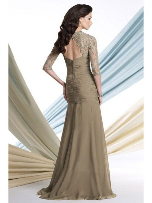 A-Line/Princess 1/2 Sleeves Sweetheart Floor-Length Mother of the Bride Dresses