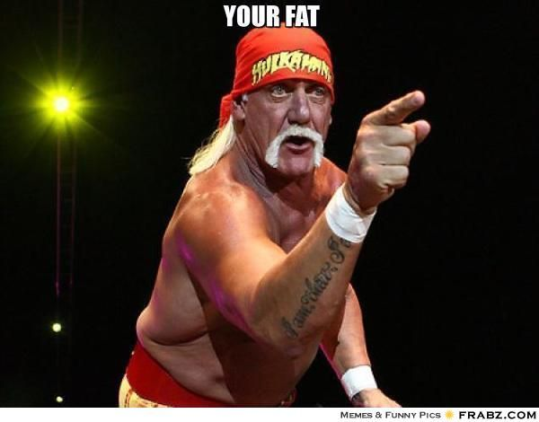 Your Fat Hulk Hogan Says Meme Generator Captionator Hulk