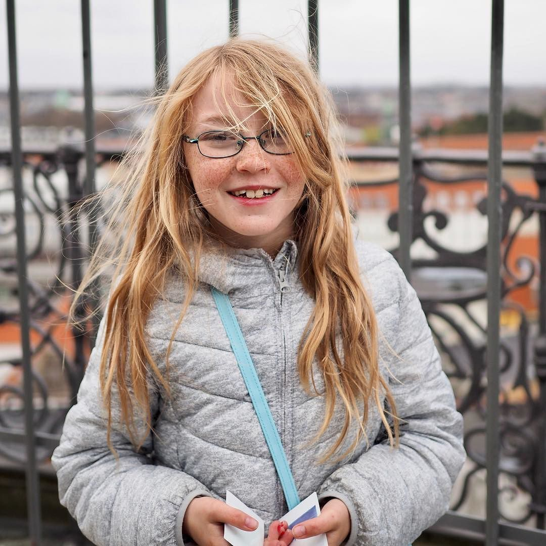 It was pretty windy at the top of the Round Tower when we went up! The stunning views over Copenhagen were definitely worth all that hair in our faces though