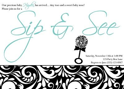 baby shower invite for a shower after the baby is born baby shower