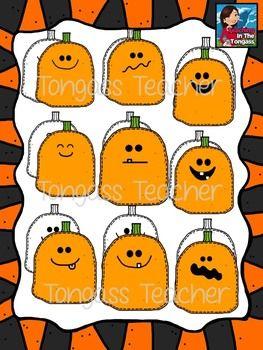 Stitched Pumpkins Clipart Bundle