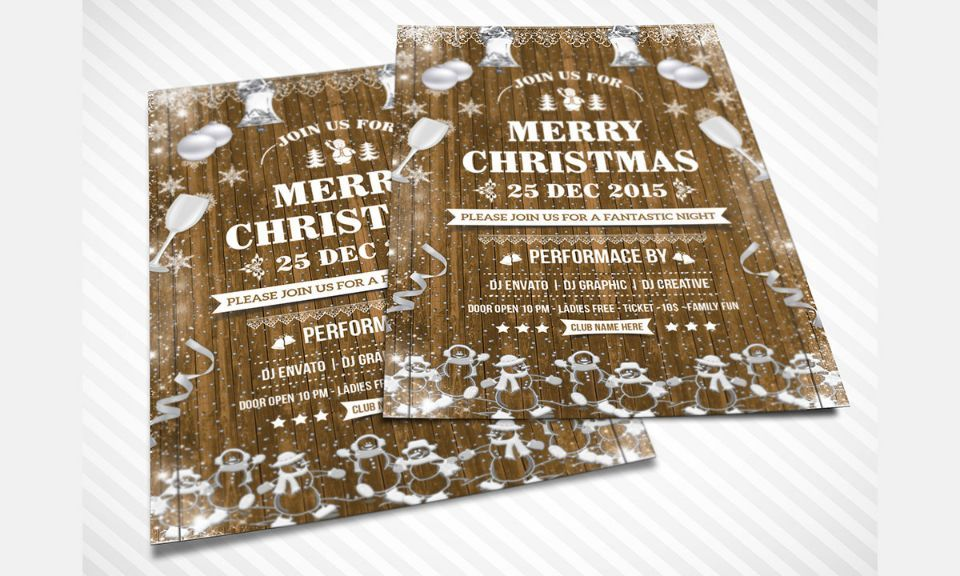 30+ Christmas Invitation Template and Christmas Party Invitation - Invitation Flyer Template
