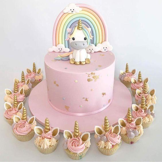 Cake Designs Unicorn Birthday Parties Fondant Cakes