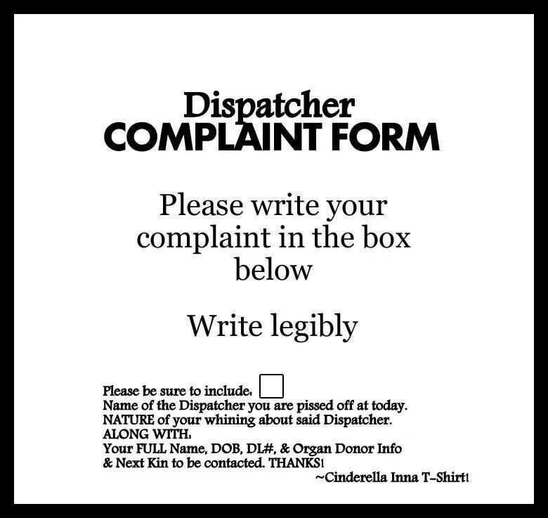 Police Dispatcher complaint form well done | Funny quotes ...