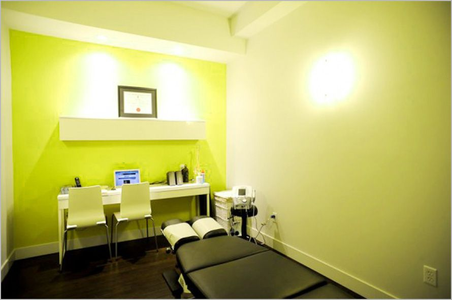 An example of modern chiropractic office interior design for Office design examples