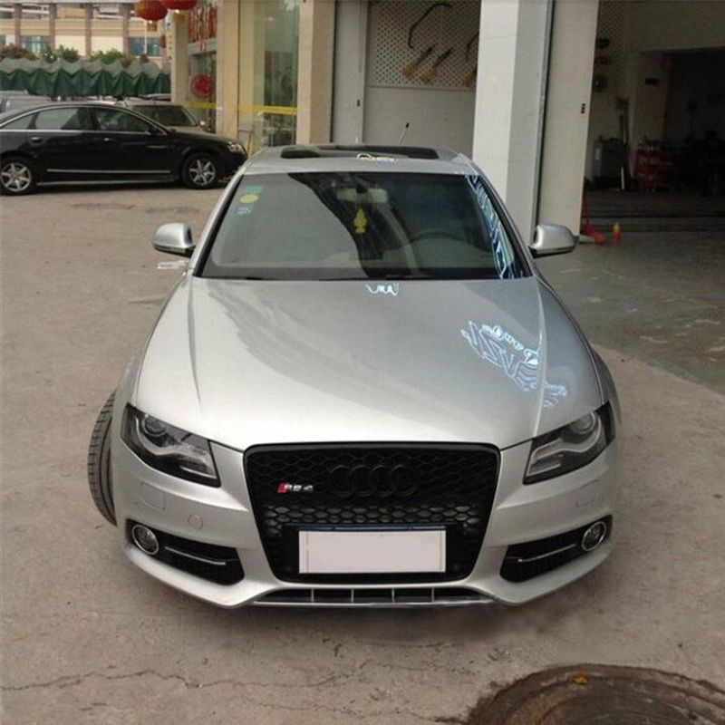 2010 Audi A4 Performance Upgrades: A4 B8 Black Frame With Black 4ring Front Bumper Mesh Grill