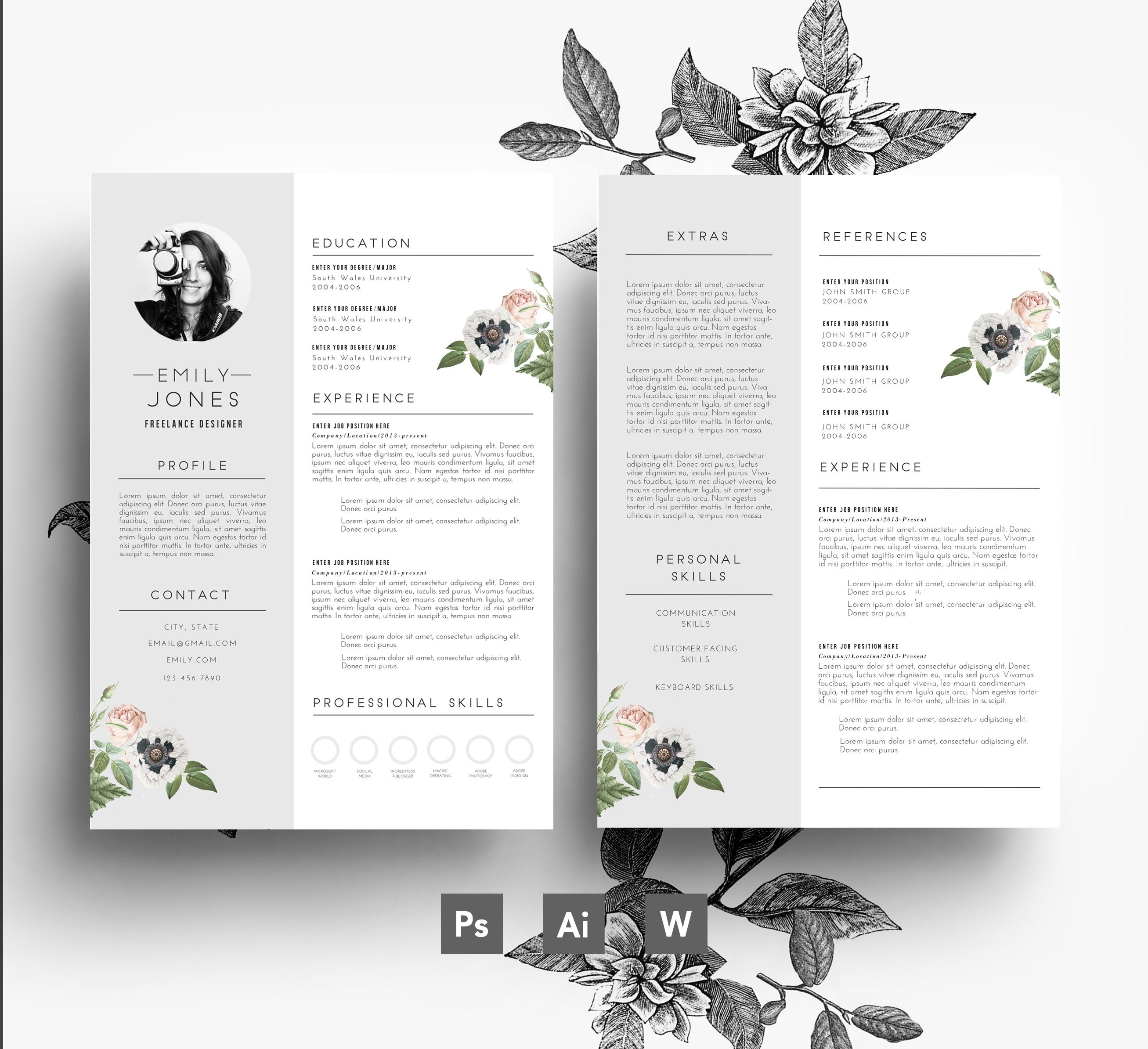 Cv Template  Cover Letter  Flower Resumes    Cv